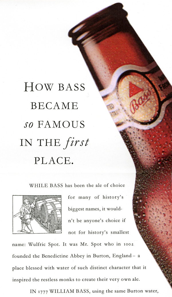 Bass Ale How Bass became famous ad